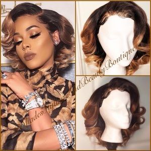 Accessories - BLONDE/BROWN HIGHLIGHTS GLUELESS LACE FRONTAL WIG